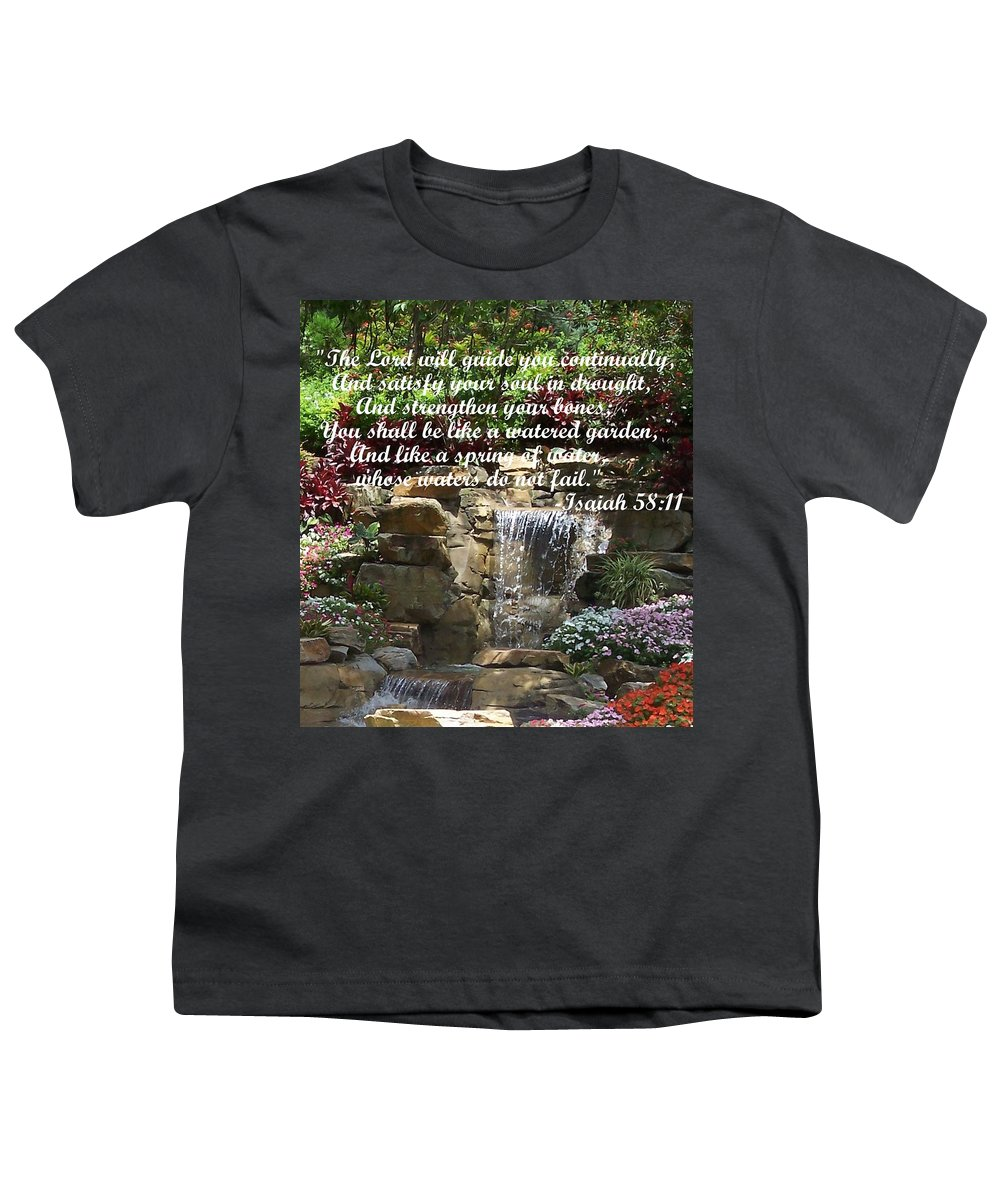 Inspirational Youth T-Shirt featuring the photograph Watered Garden by Pharris Art
