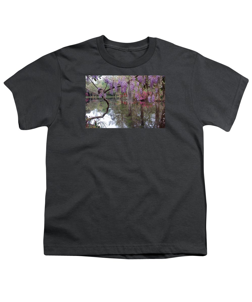 Wisteria Youth T-Shirt featuring the photograph Magnolia Plantation Gardens Series II by Suzanne Gaff