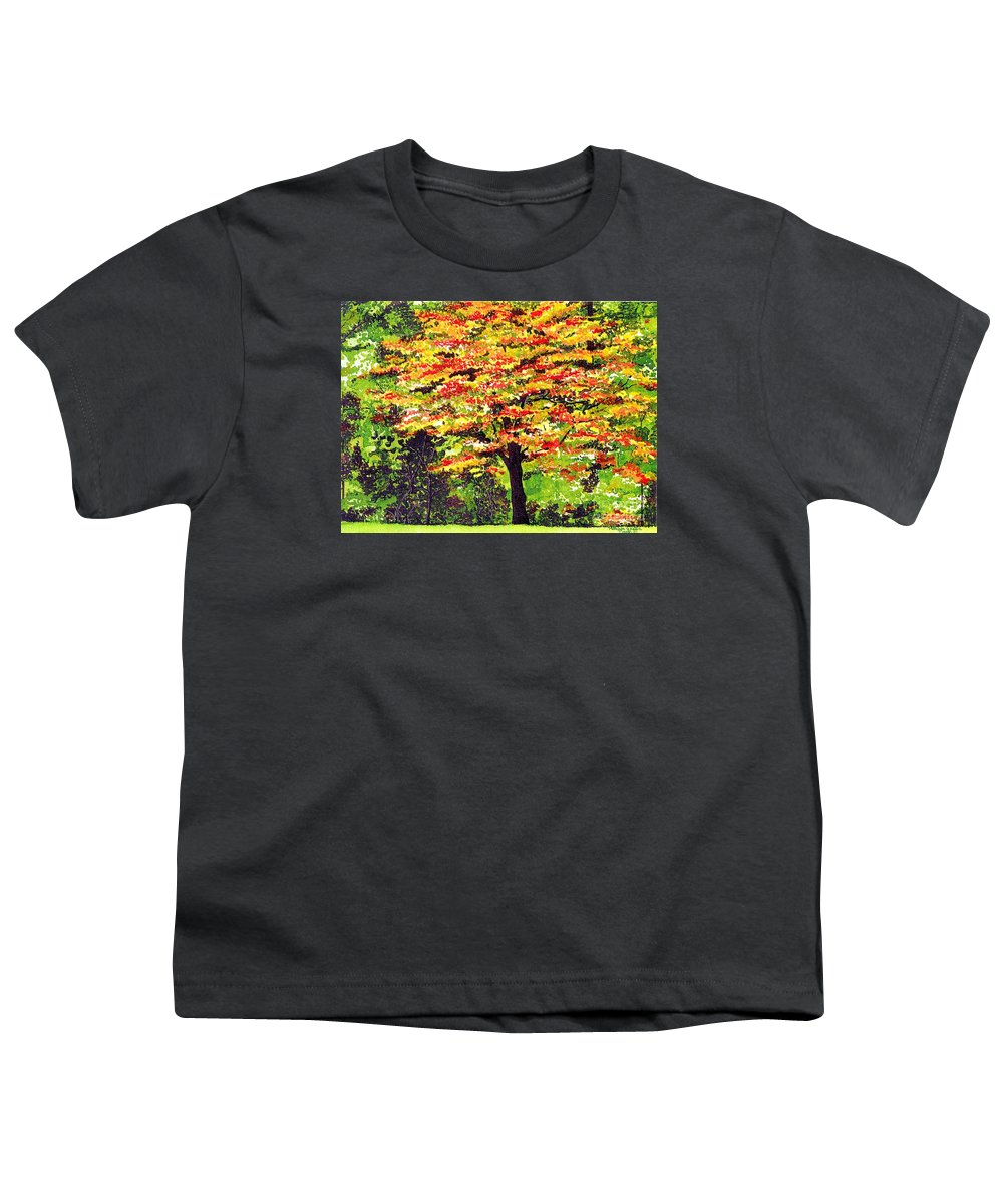 Fine Art Youth T-Shirt featuring the painting Autumn Splendor by Patricia Griffin Brett