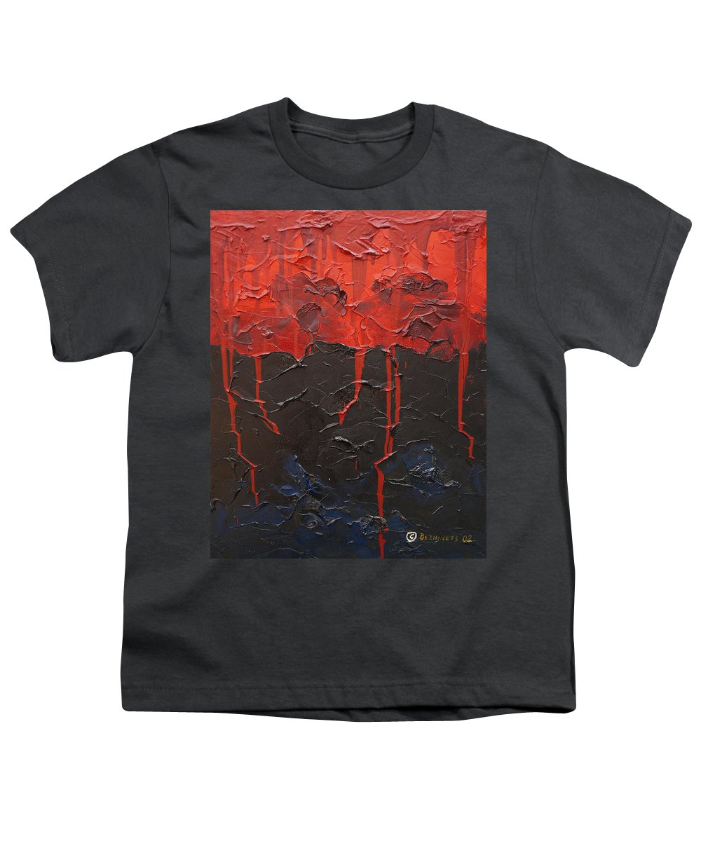 Fantasy Youth T-Shirt featuring the painting Bleeding Sky by Sergey Bezhinets