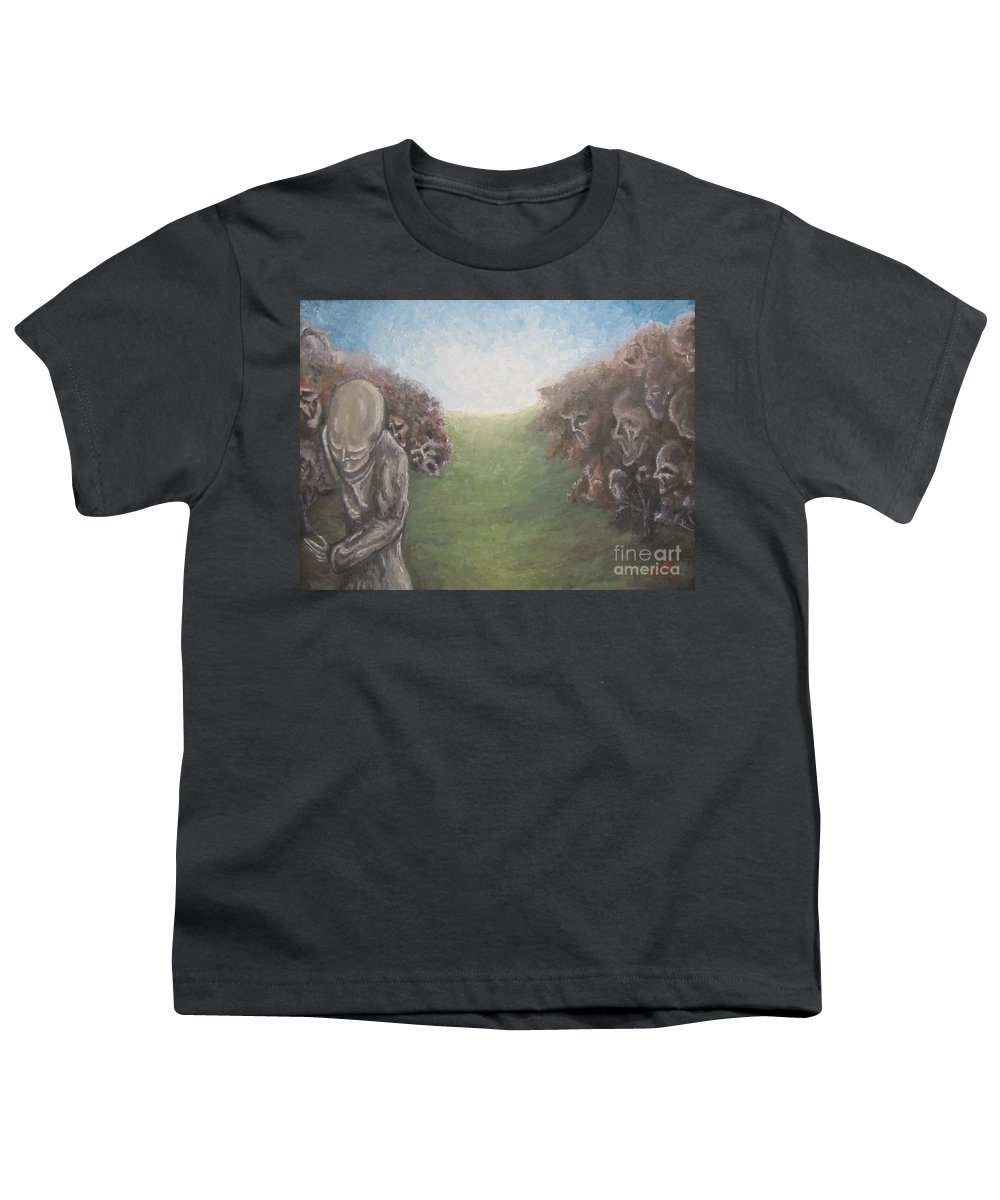Tmad Youth T-Shirt featuring the painting Closure by Michael TMAD Finney