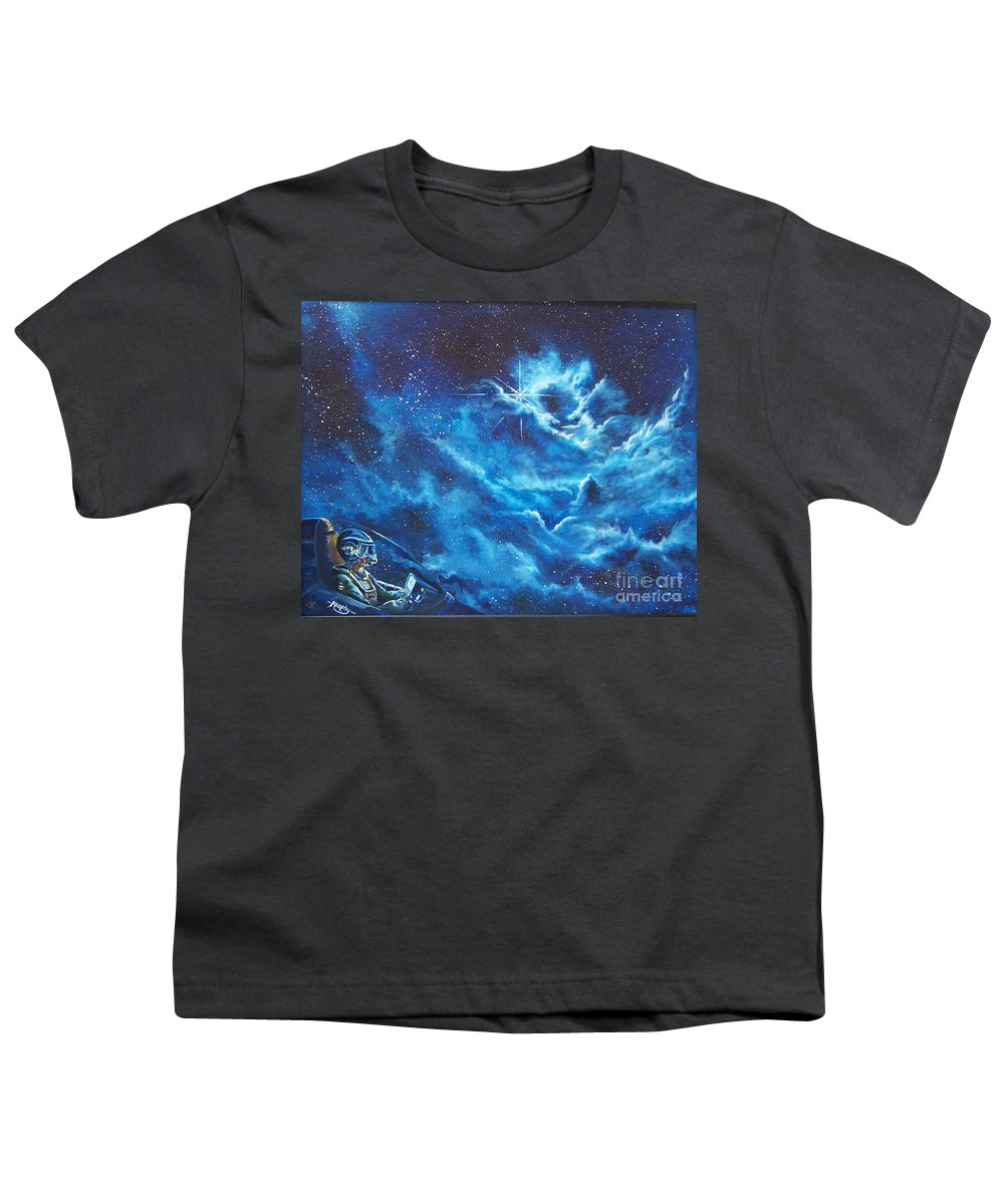 Astro Youth T-Shirt featuring the painting Heavens Gate by Murphy Elliott