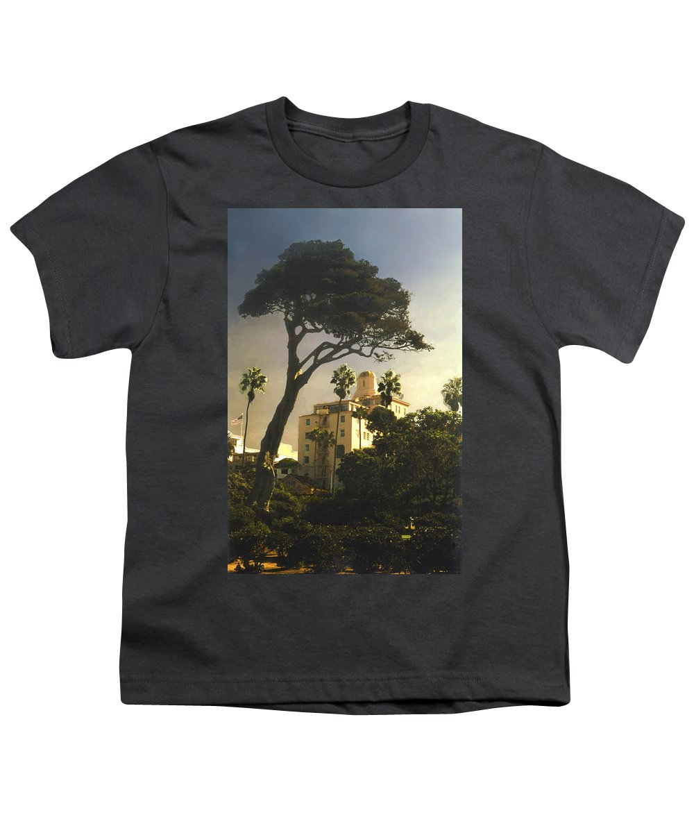 Landscape Youth T-Shirt featuring the photograph Hotel California- La Jolla by Steve Karol