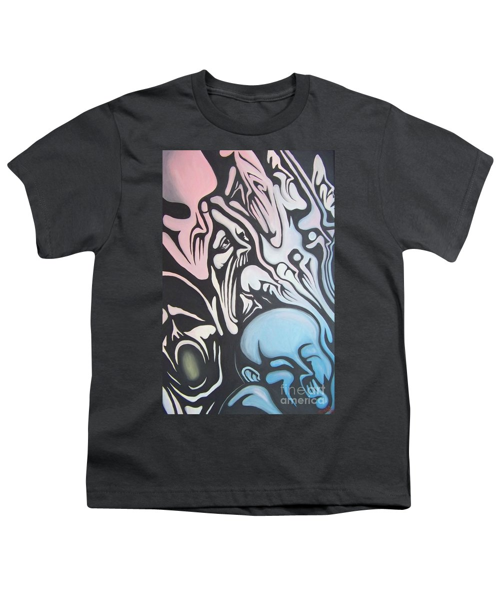 Tmad Youth T-Shirt featuring the painting Intensity by Michael TMAD Finney