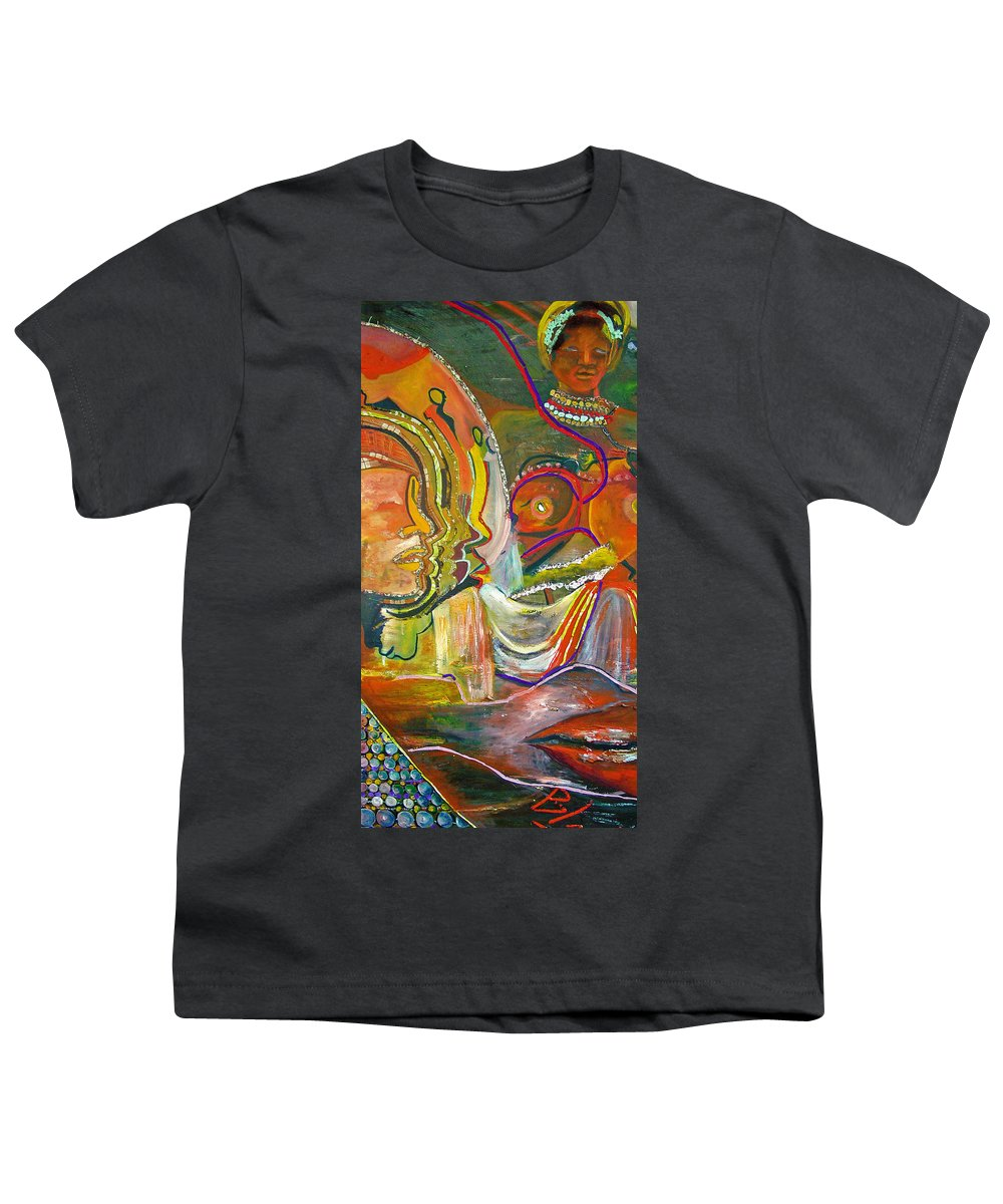Impressionism Youth T-Shirt featuring the painting Koulikoro Woman by Peggy Blood