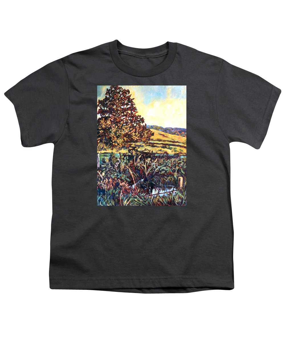 Landscape Youth T-Shirt featuring the painting Near Childress by Kendall Kessler