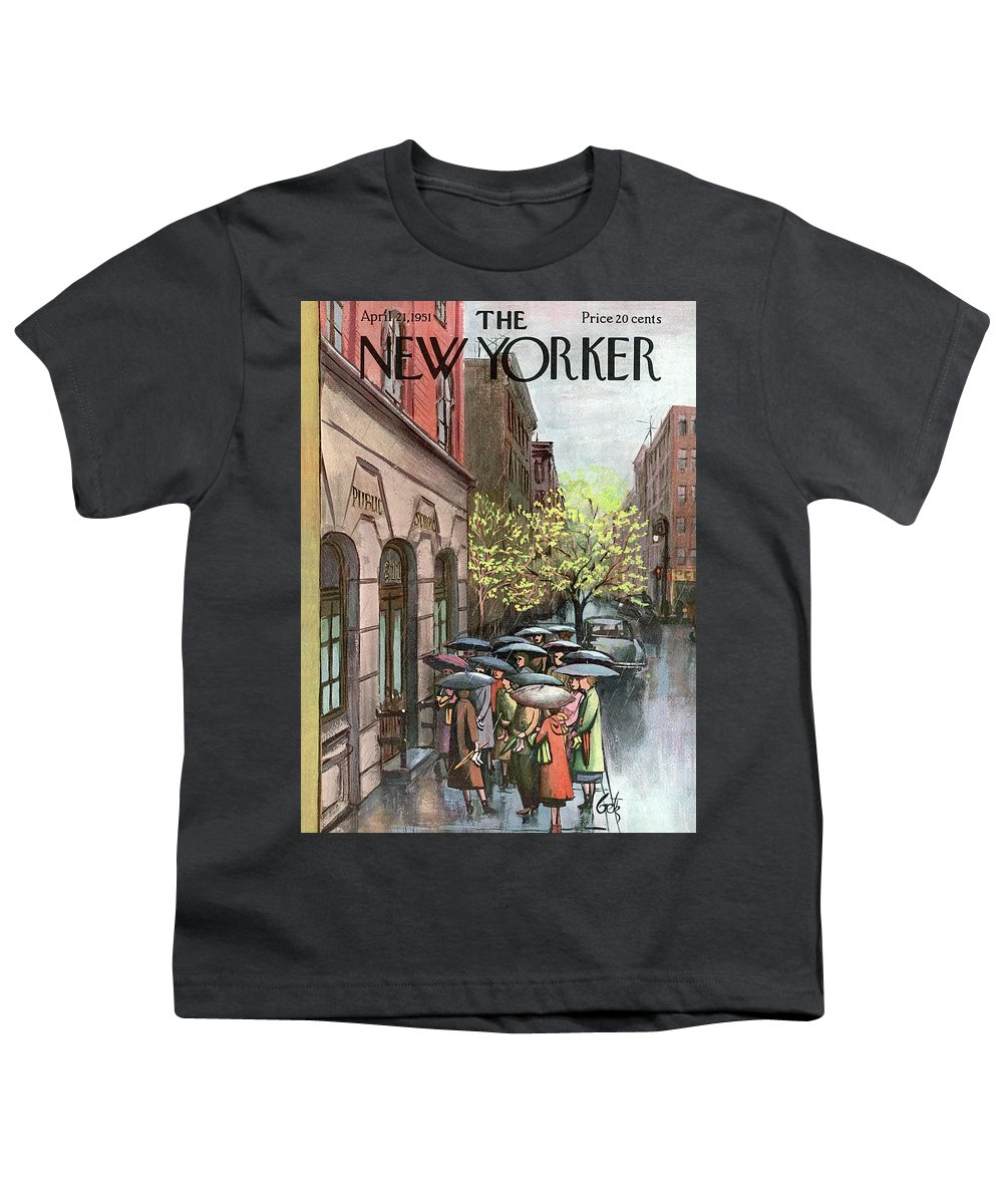 Urban Youth T-Shirt featuring the painting New Yorker April 21st, 1951 by Arthur Getz