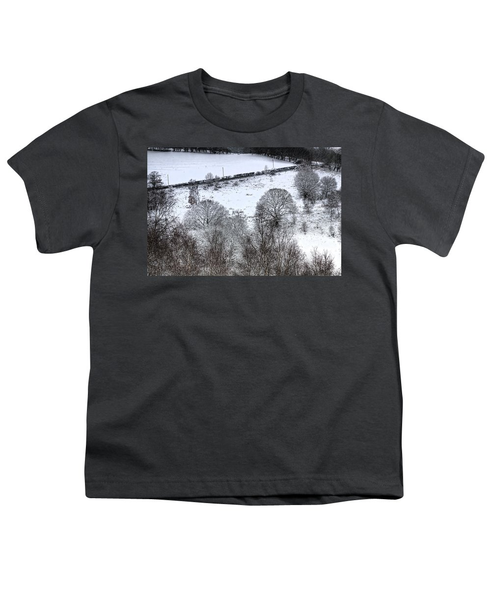 Winter Youth T-Shirt featuring the photograph Rhymney Valley Winter 4 by Steve Purnell