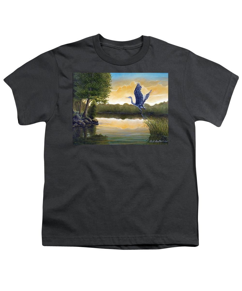 Rick Huotari Youth T-Shirt featuring the painting Serenity by Rick Huotari