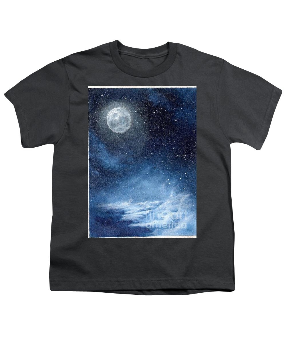Cosmos Youth T-Shirt featuring the painting Shimmer by Murphy Elliott