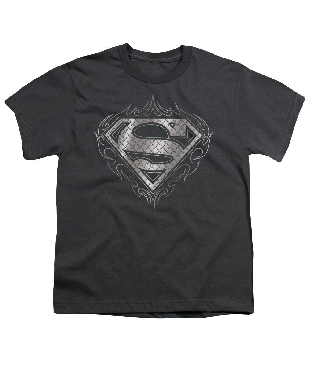 Superman Tribal Steel Logo Youth T Shirt For Sale By Brand A