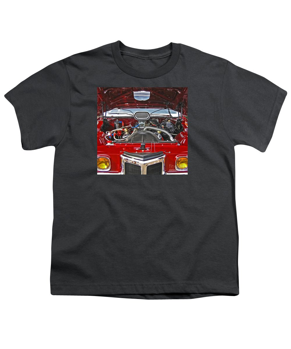 Car Youth T-Shirt featuring the photograph Under The Hood by Ann Horn