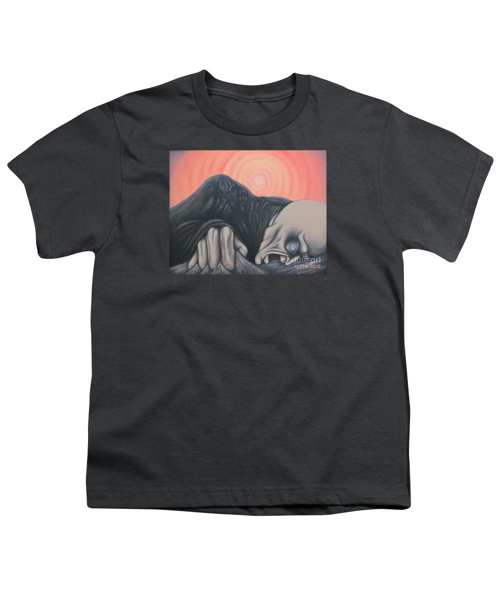 Tmad Youth T-Shirt featuring the painting Vertigo by Michael TMAD Finney