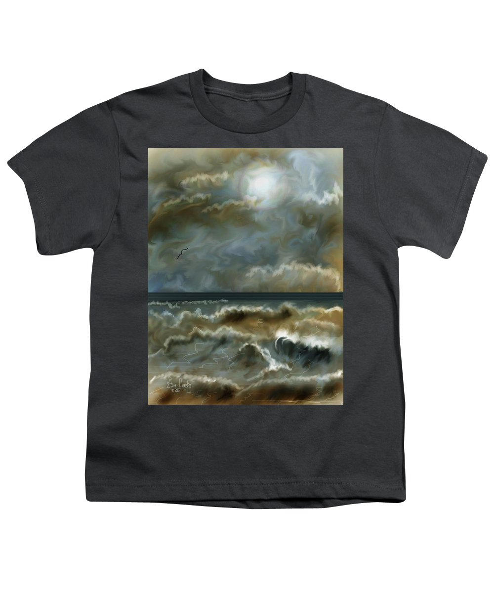 Seascape Youth T-Shirt featuring the painting After The Squall by Anne Norskog