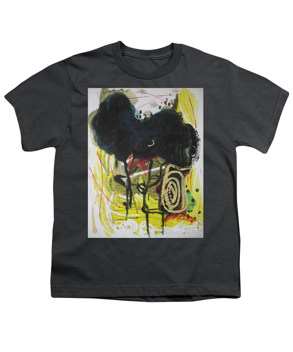 Abstract Paintings Youth T-Shirt featuring the painting Crescent2 by Seon-Jeong Kim