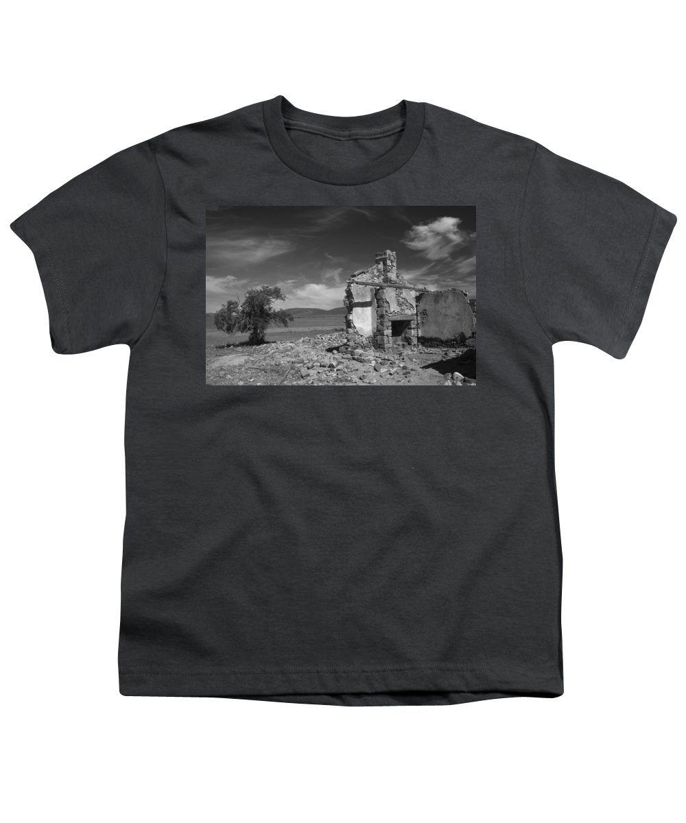 Cottage Youth T-Shirt featuring the photograph Farmhouse Cottage Ruin Flinders Ranges South Australia by Ralph A Ledergerber-Photography