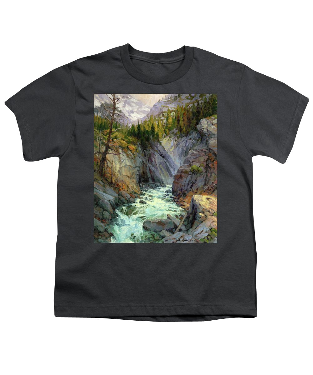 River Youth T-Shirt featuring the painting Hurricane River by Steve Henderson