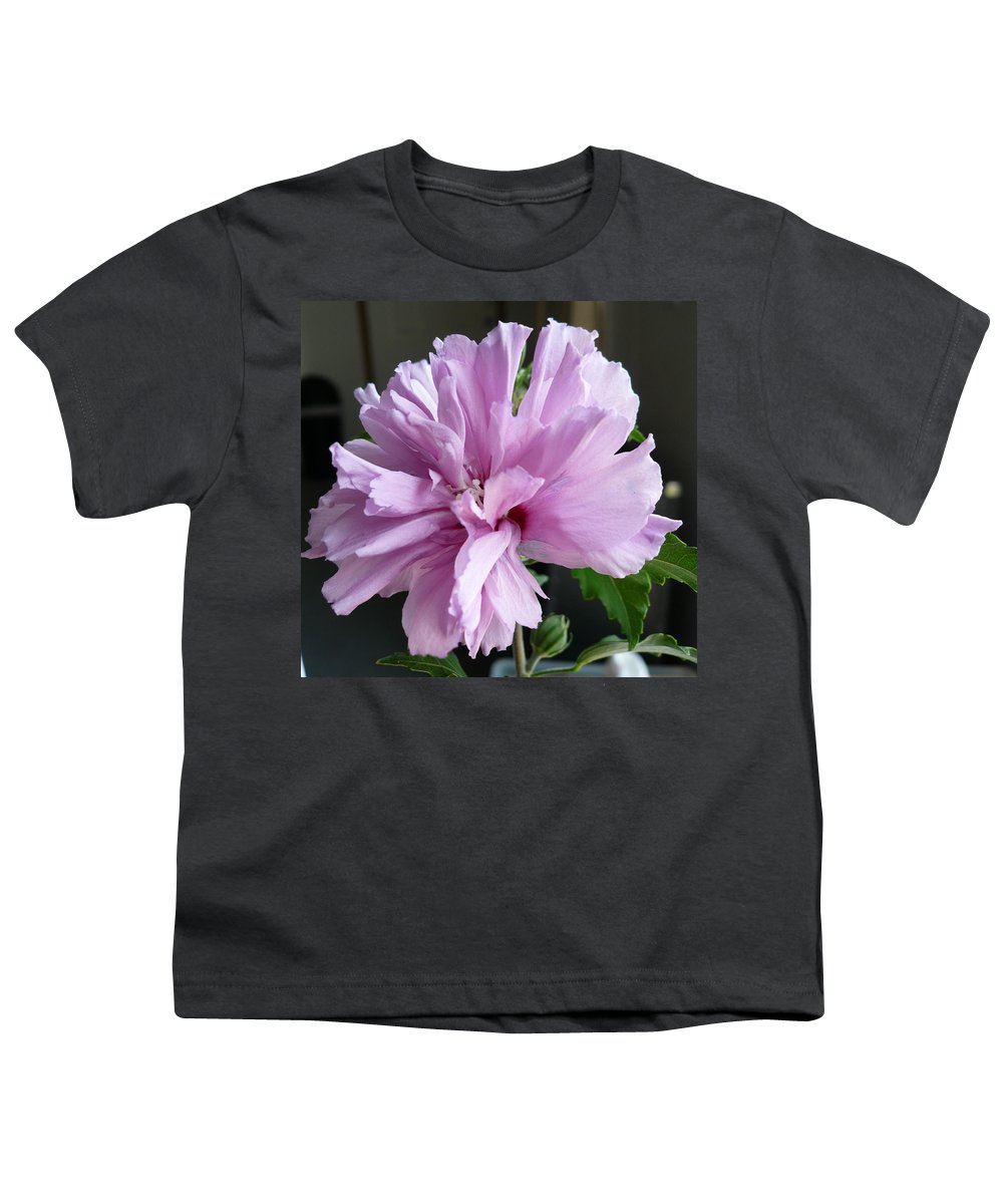 Phoyography.hibiscus Flower Floral Bloom Bush Pink Youth T-Shirt featuring the photograph So Pink by Karin Dawn Kelshall- Best