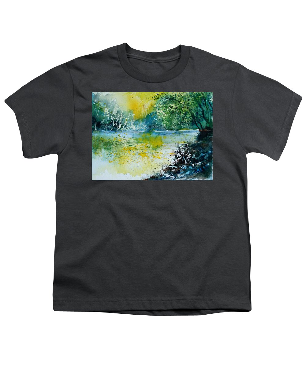 Water Youth T-Shirt featuring the painting Watercolor 051108 by Pol Ledent