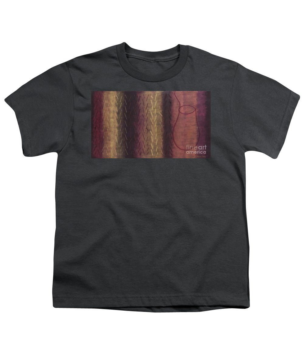 Acrylic Youth T-Shirt featuring the painting Embodiment - Divine Source by Kerryn Madsen- Pietsch