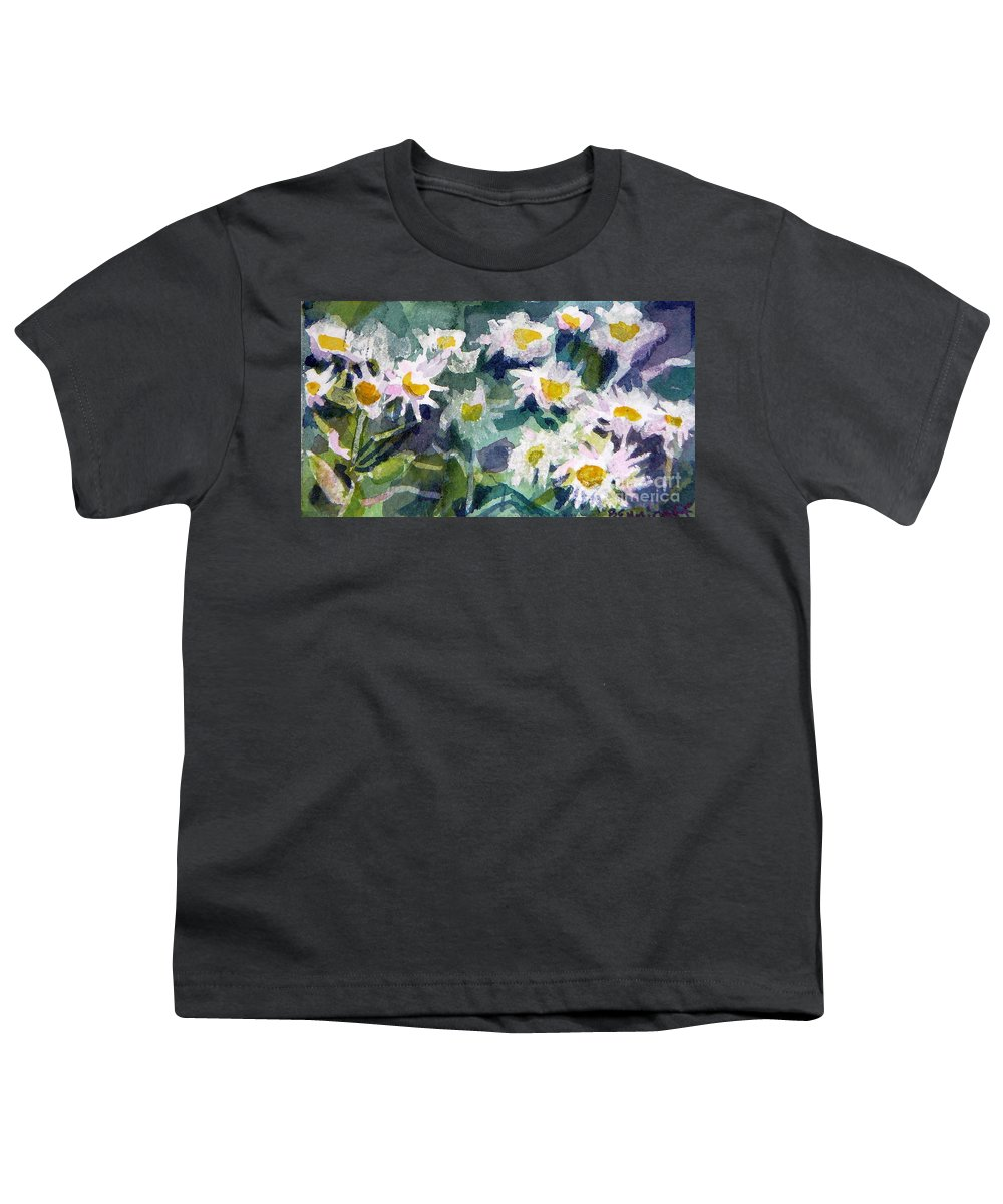 Flowers Youth T-Shirt featuring the painting Little Asters by Jan Bennicoff