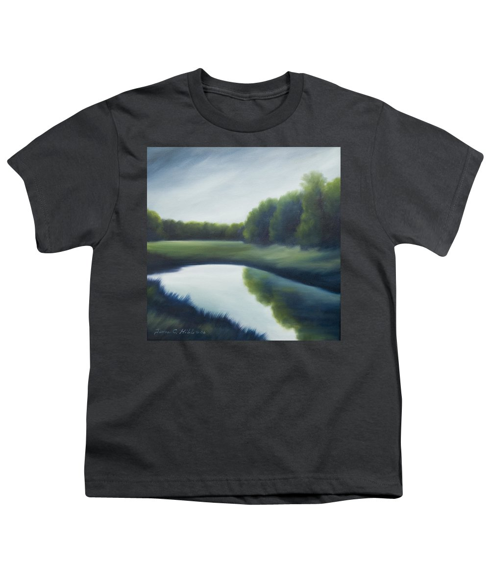 Clouds Youth T-Shirt featuring the painting A Day In The Life 2 by James Christopher Hill