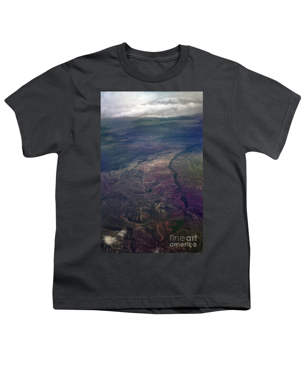 Aerial Photography Youth T-Shirt featuring the photograph A Midwestern Landscape by Richard Rizzo