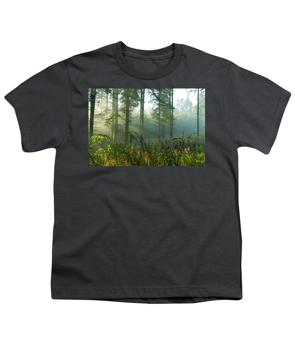 Nature Youth T-Shirt featuring the photograph A New Day Has Come by Daniel Csoka