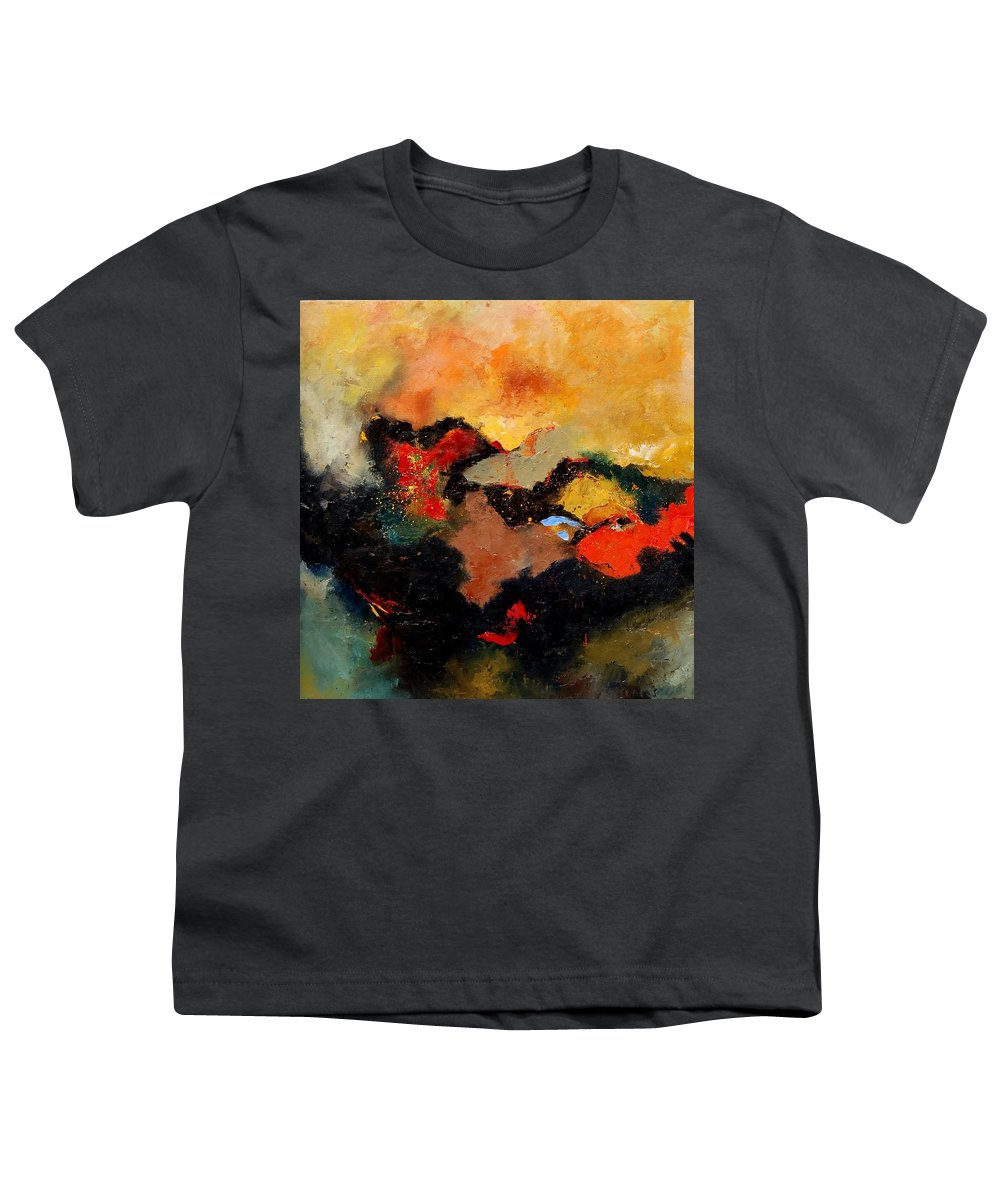 Abstract Youth T-Shirt featuring the painting Abstract 8080 by Pol Ledent