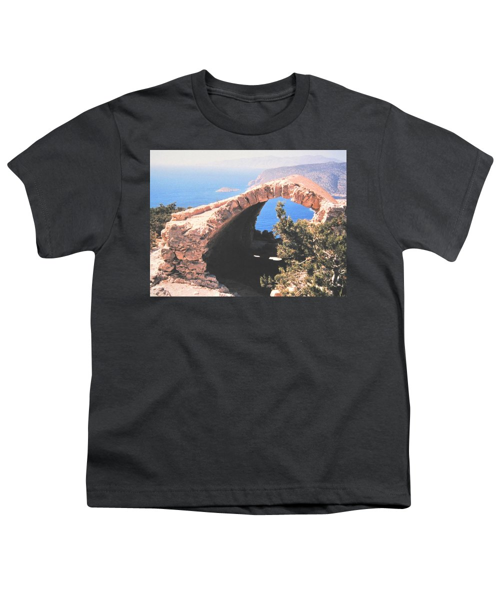 Greece Youth T-Shirt featuring the photograph Across To Turkey by Ian MacDonald