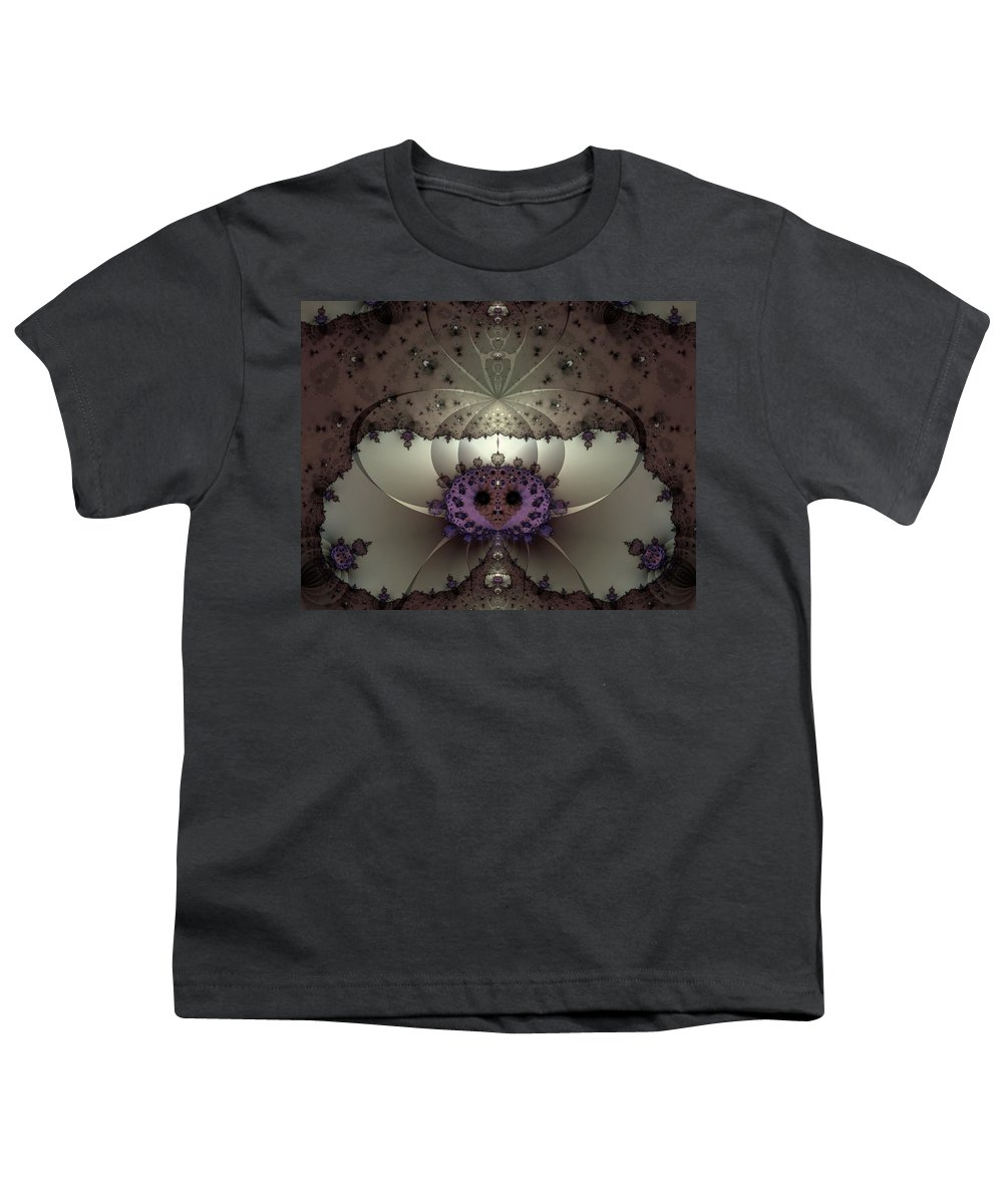 Abstract Youth T-Shirt featuring the digital art Alien Exotica by Casey Kotas