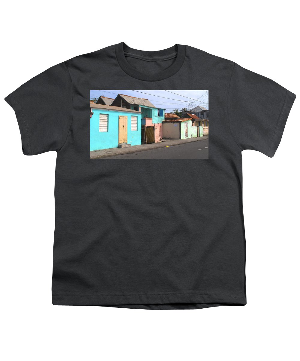 St Kitts Youth T-Shirt featuring the photograph Along Bay Road by Ian MacDonald