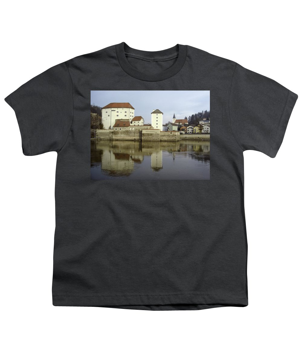 River Youth T-Shirt featuring the photograph Along The Danube by Mary Rogers