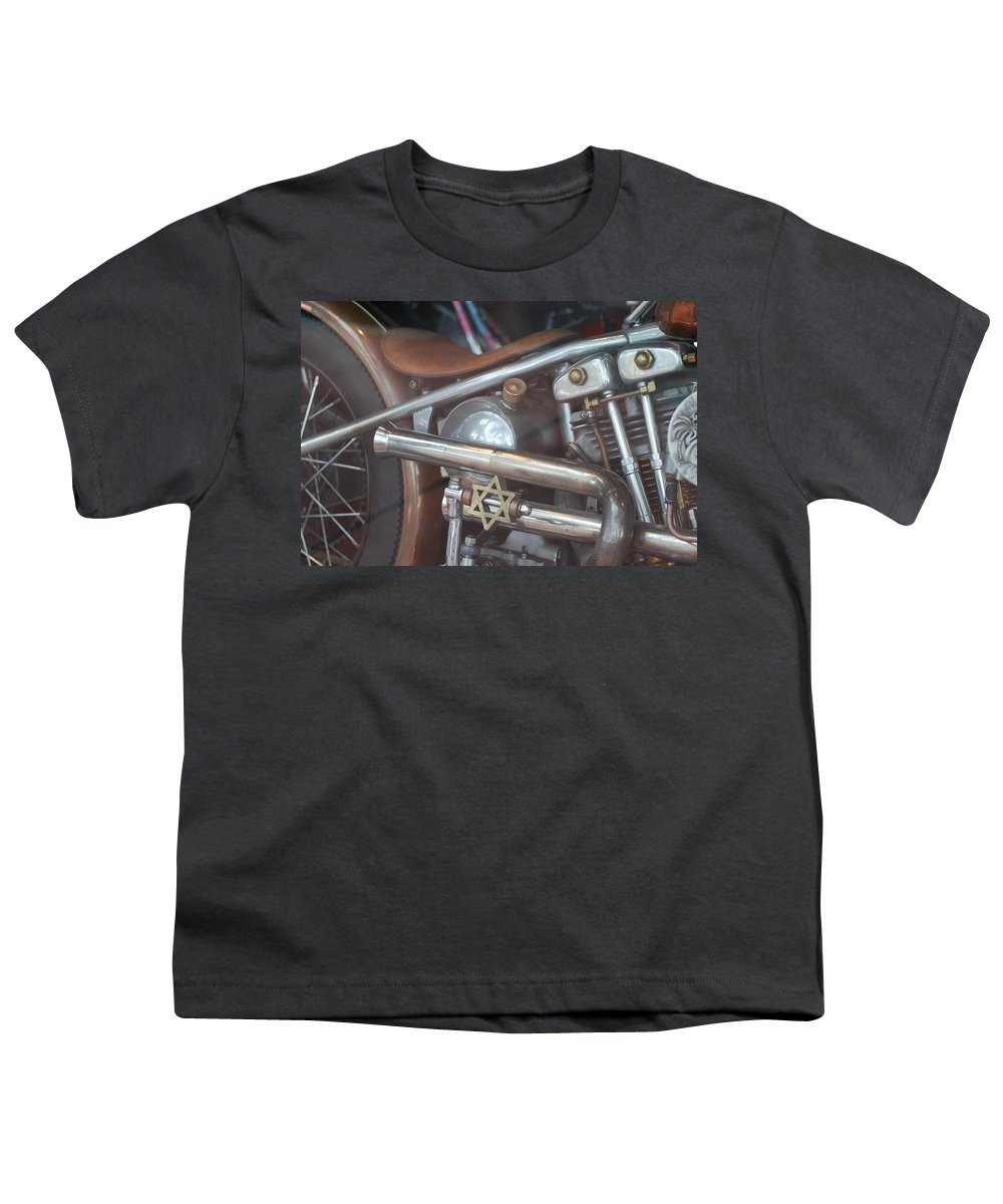 Motorcycle Youth T-Shirt featuring the photograph Ami's Bike by Rob Hans