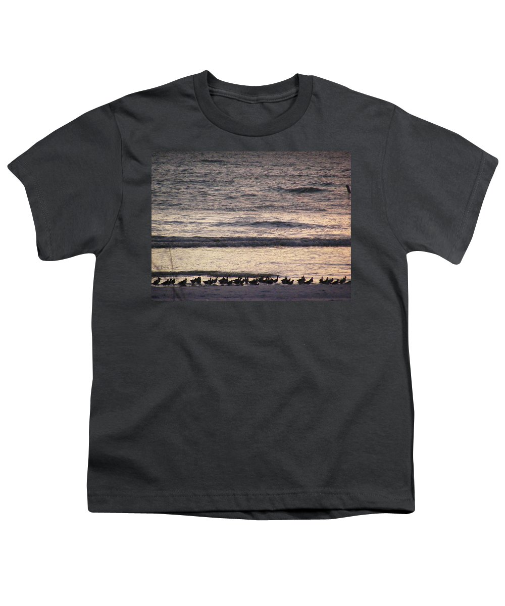 Evening Stroll Youth T-Shirt featuring the photograph An Evening Stroll by Ed Smith