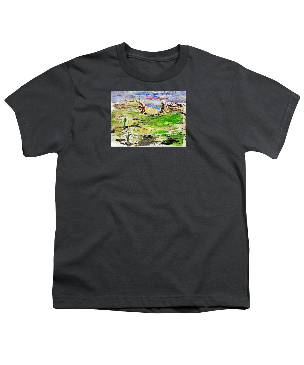 Impressionist Painting Youth T-Shirt featuring the painting Arizona Skies by J R Seymour