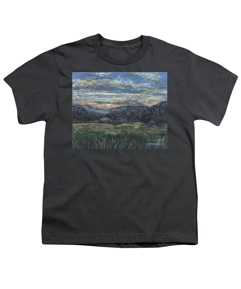 Impressionism Youth T-Shirt featuring the painting Arkansas Sunrise by Nadine Rippelmeyer
