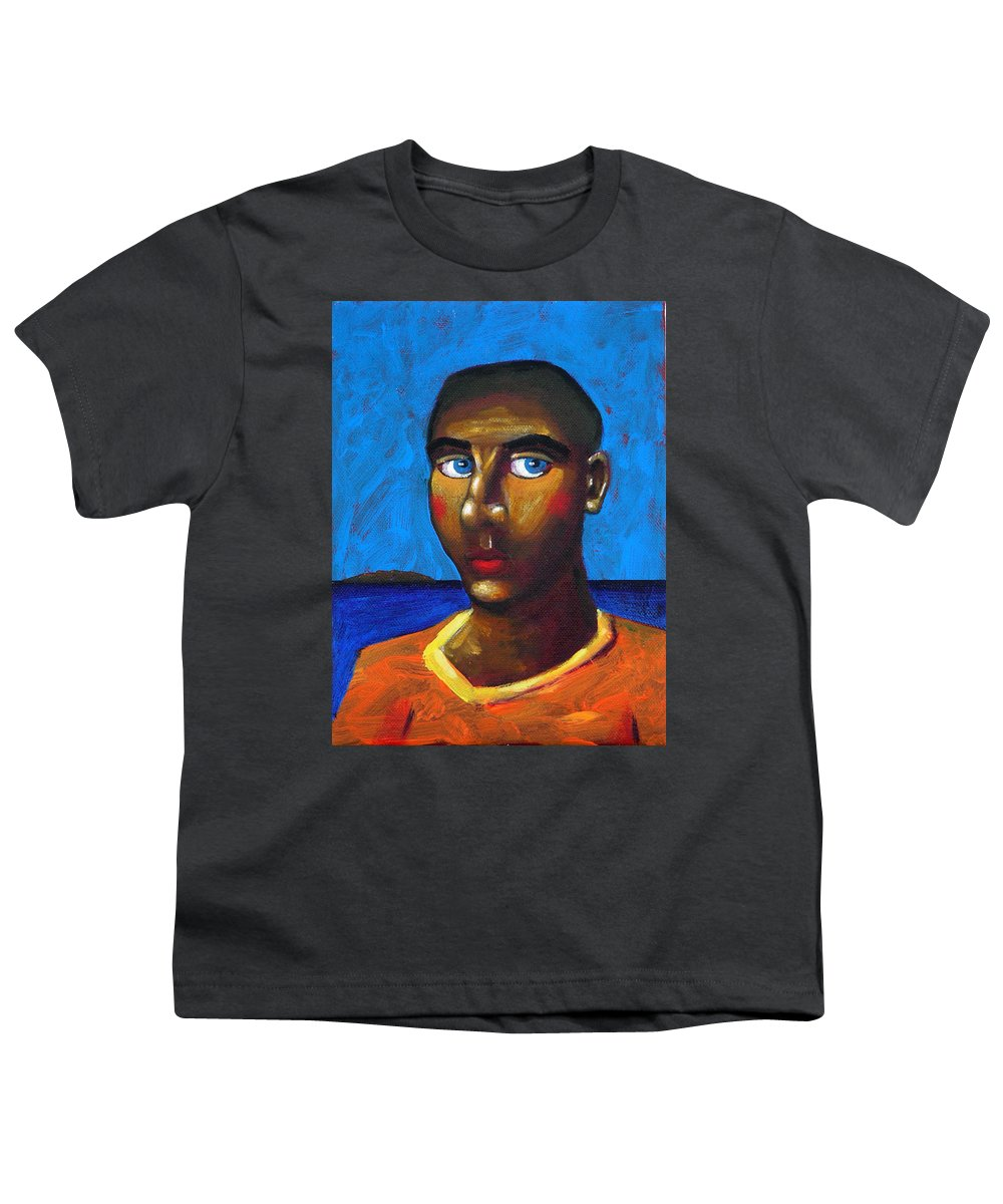 Arsonist Youth T-Shirt featuring the painting Arsonist by Dimitris Milionis