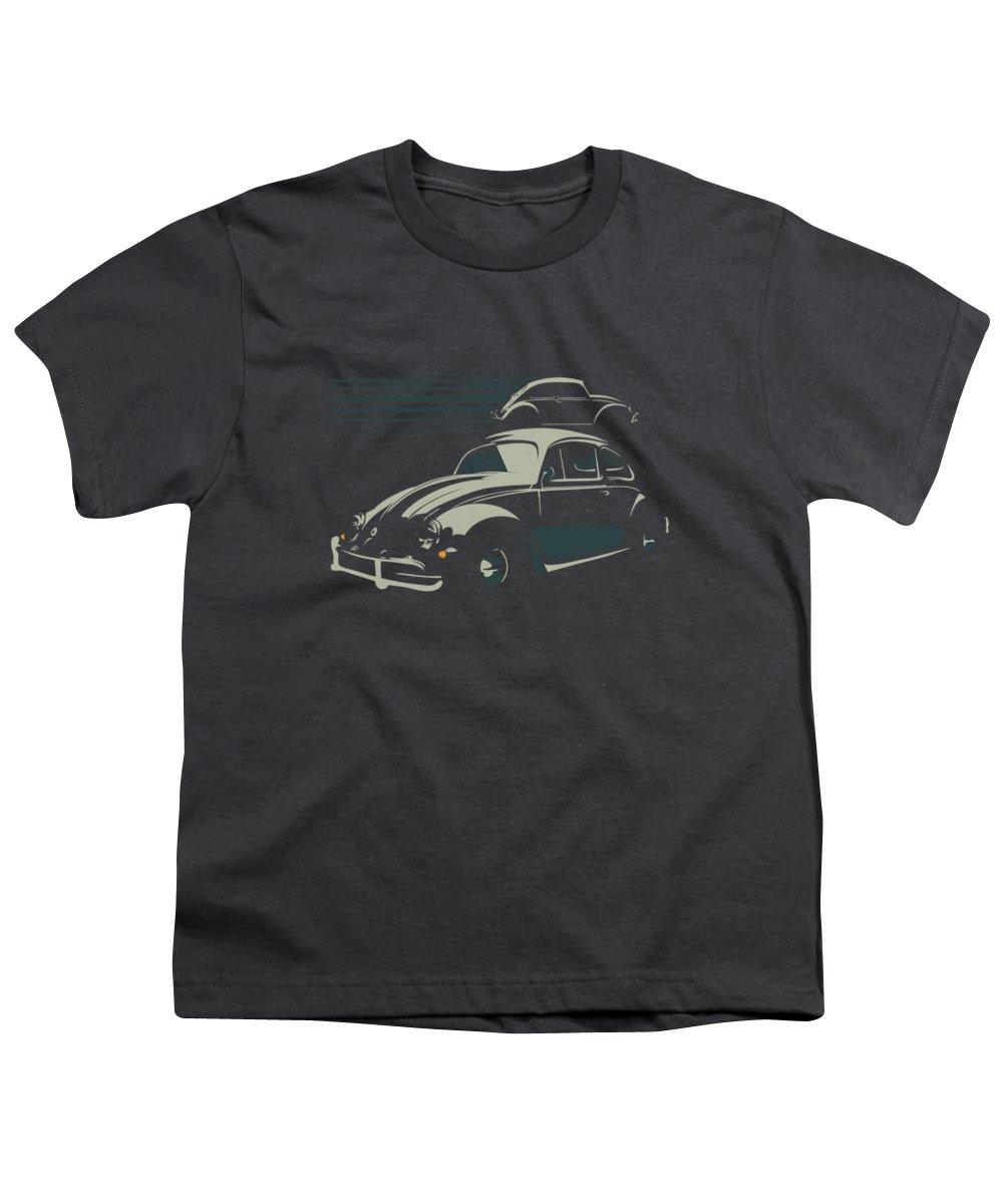 Bug Youth T-Shirt featuring the digital art Vw Beatle by Sassan Filsoof