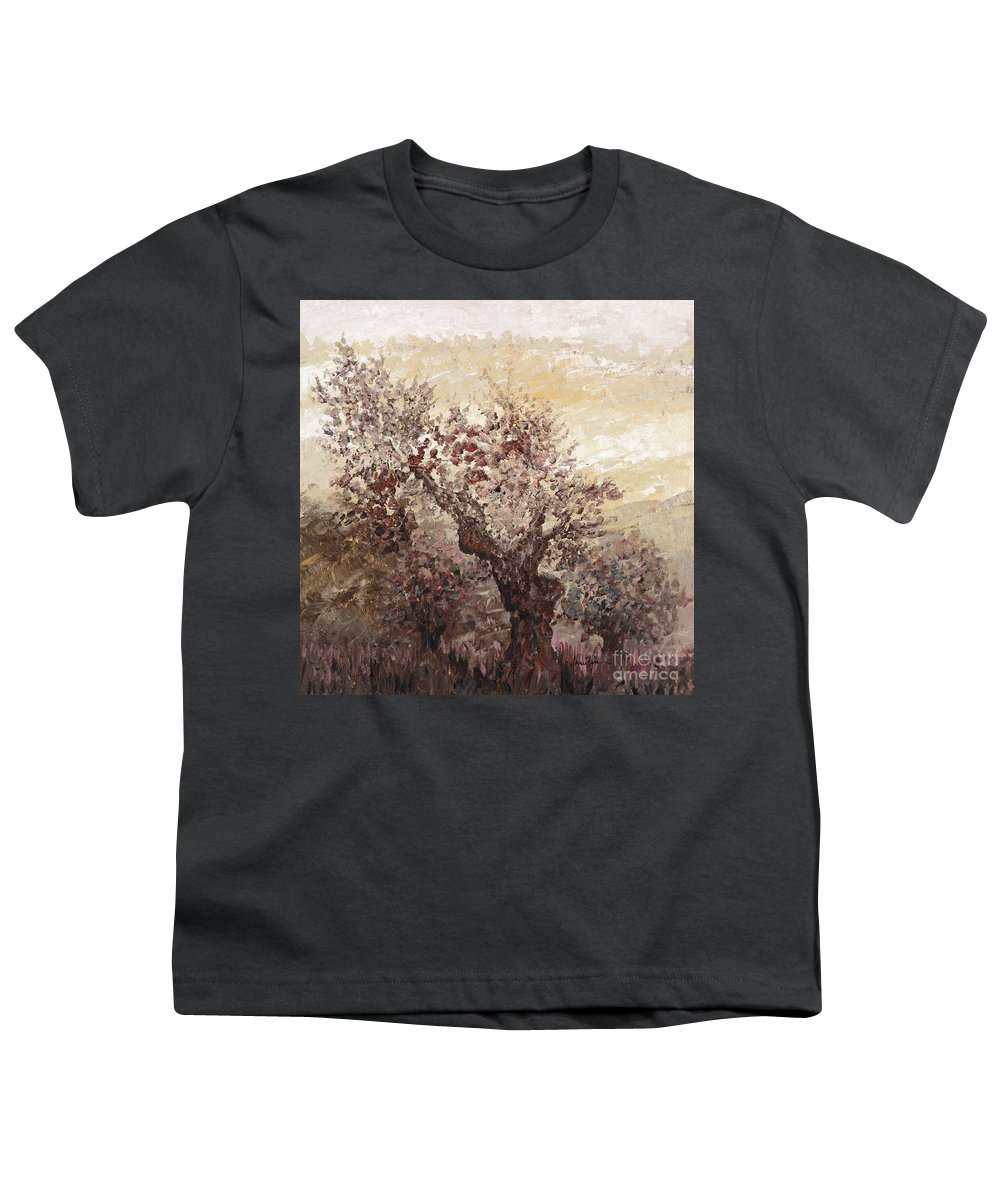 Landscape Youth T-Shirt featuring the painting Asian Mist by Nadine Rippelmeyer
