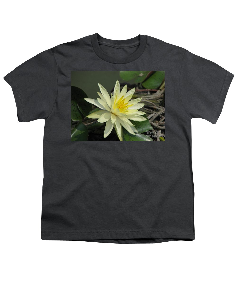 Lilly Youth T-Shirt featuring the photograph At The Pond by Amanda Barcon