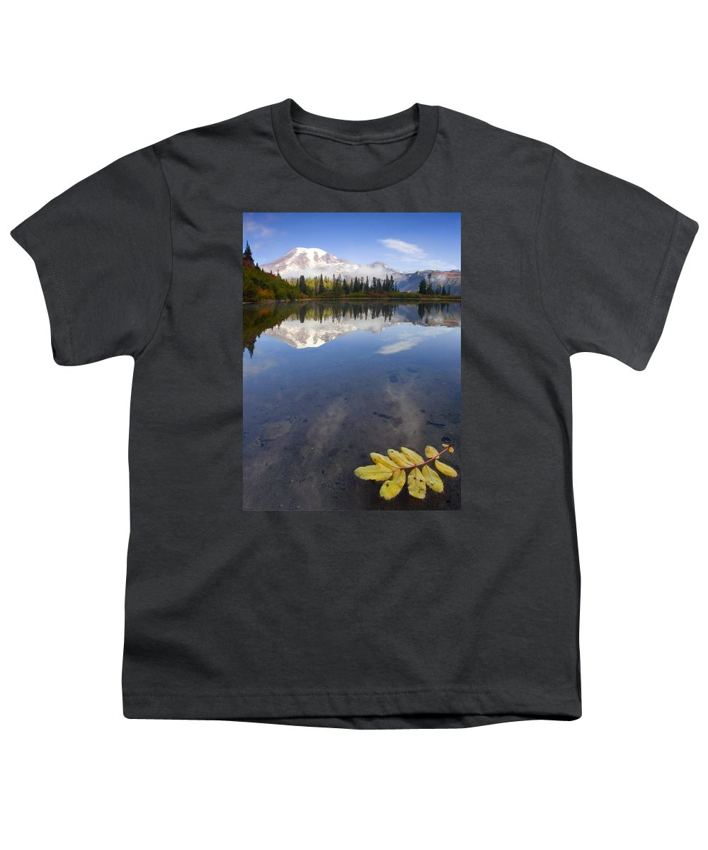 Rainier Youth T-Shirt featuring the photograph Autumn Suspended by Mike Dawson