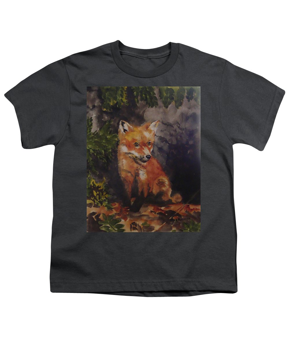 Fox Youth T-Shirt featuring the painting Babe In The Woods by Jean Blackmer