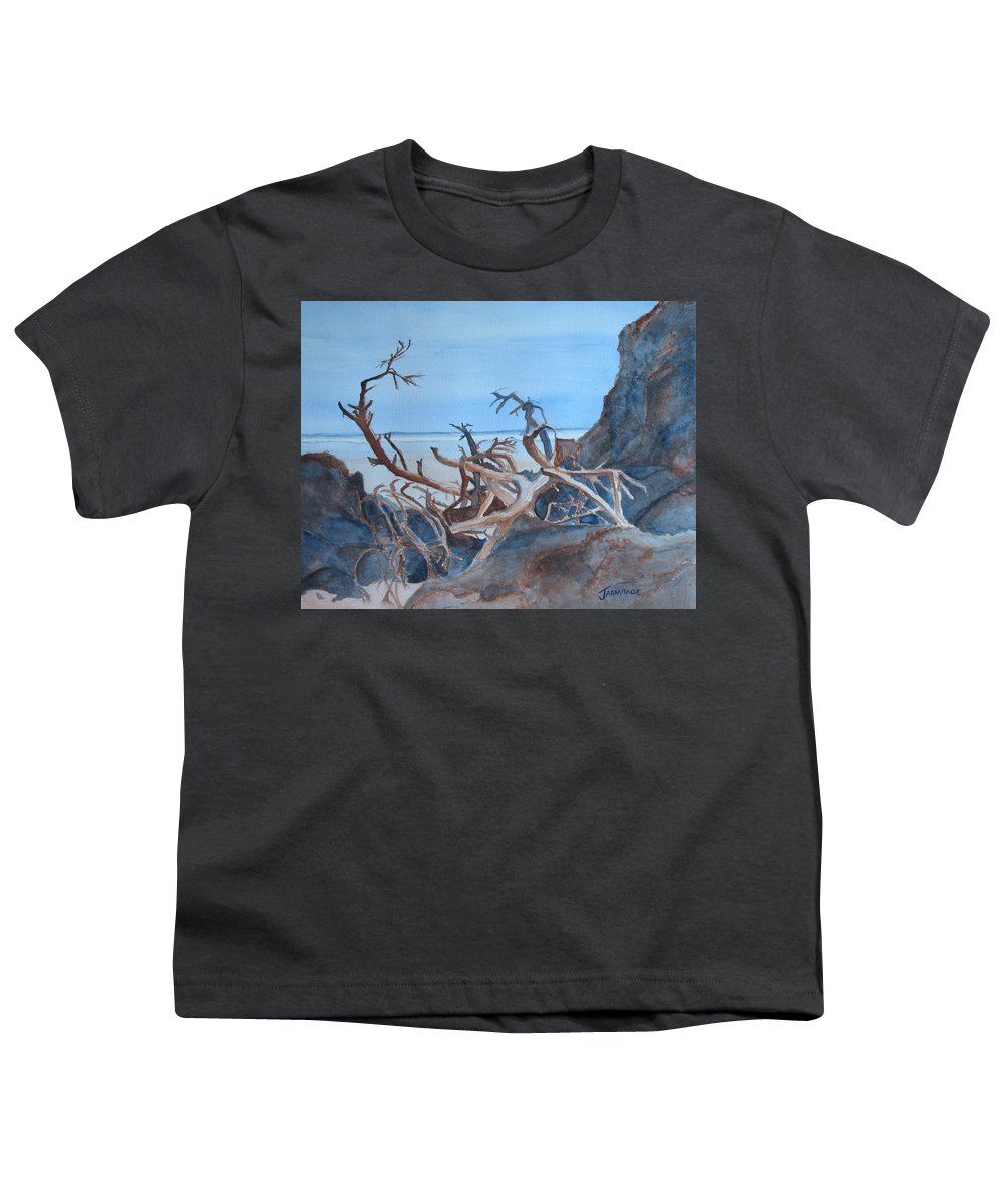 Seascapes Youth T-Shirt featuring the painting Beach Tangle by Jenny Armitage