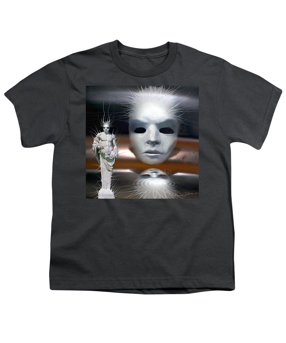 Digital Beauty Eyes Water Youth T-Shirt featuring the digital art Beauty Is Invisible To The Eye. by Veronica Jackson
