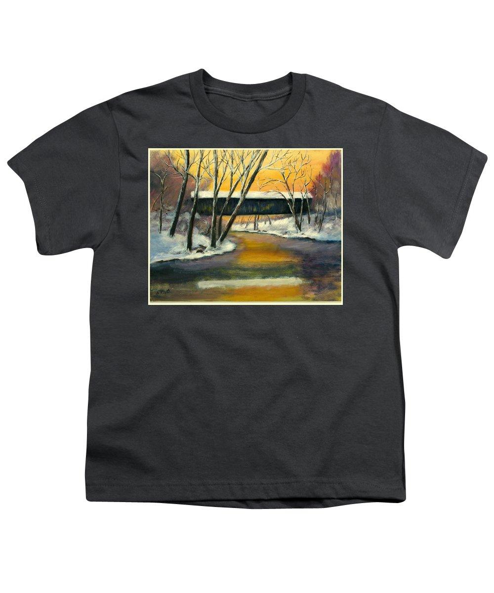 Kentucky Youth T-Shirt featuring the painting Bennett by Gail Kirtz