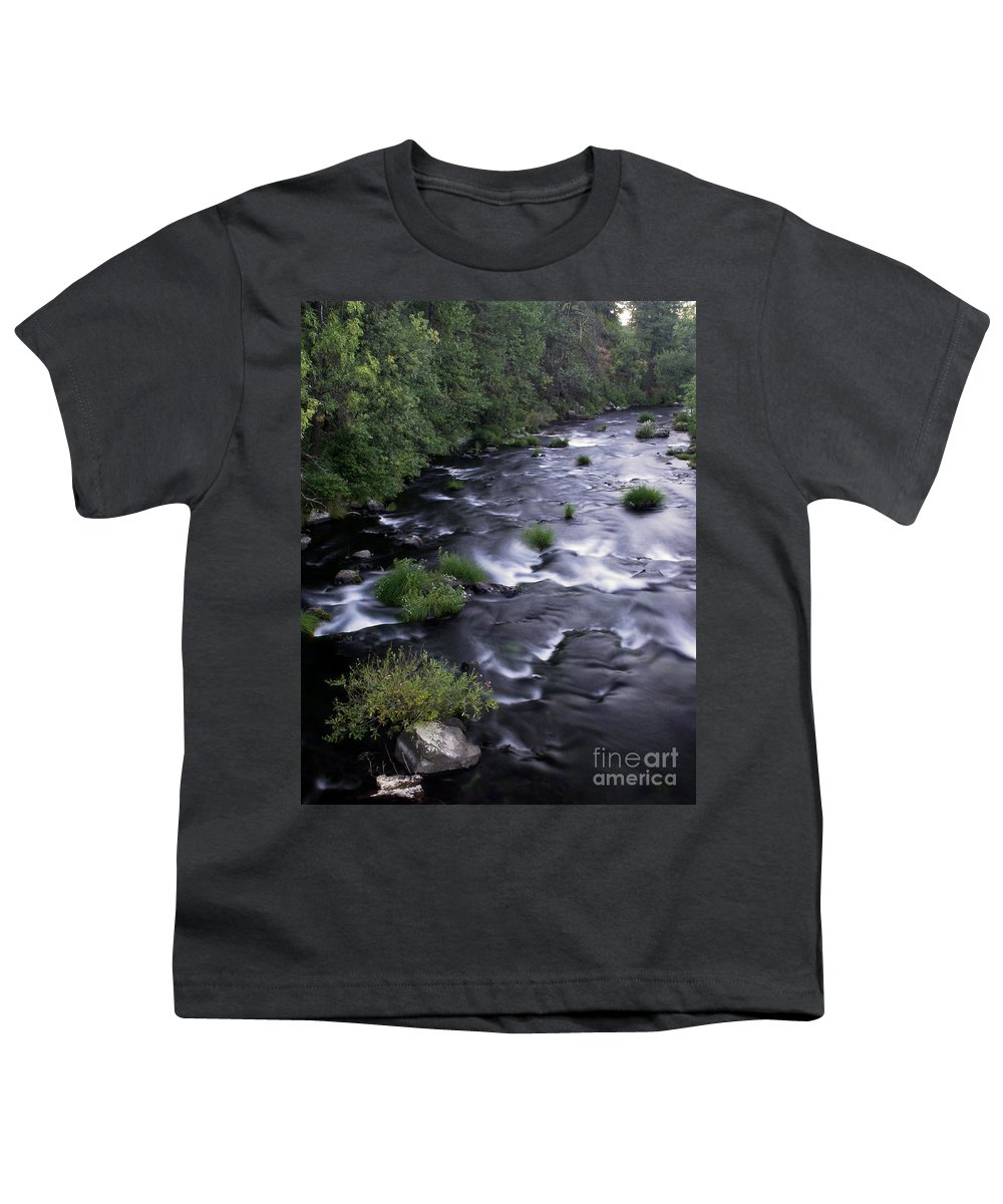 River Youth T-Shirt featuring the photograph Black Waters by Peter Piatt