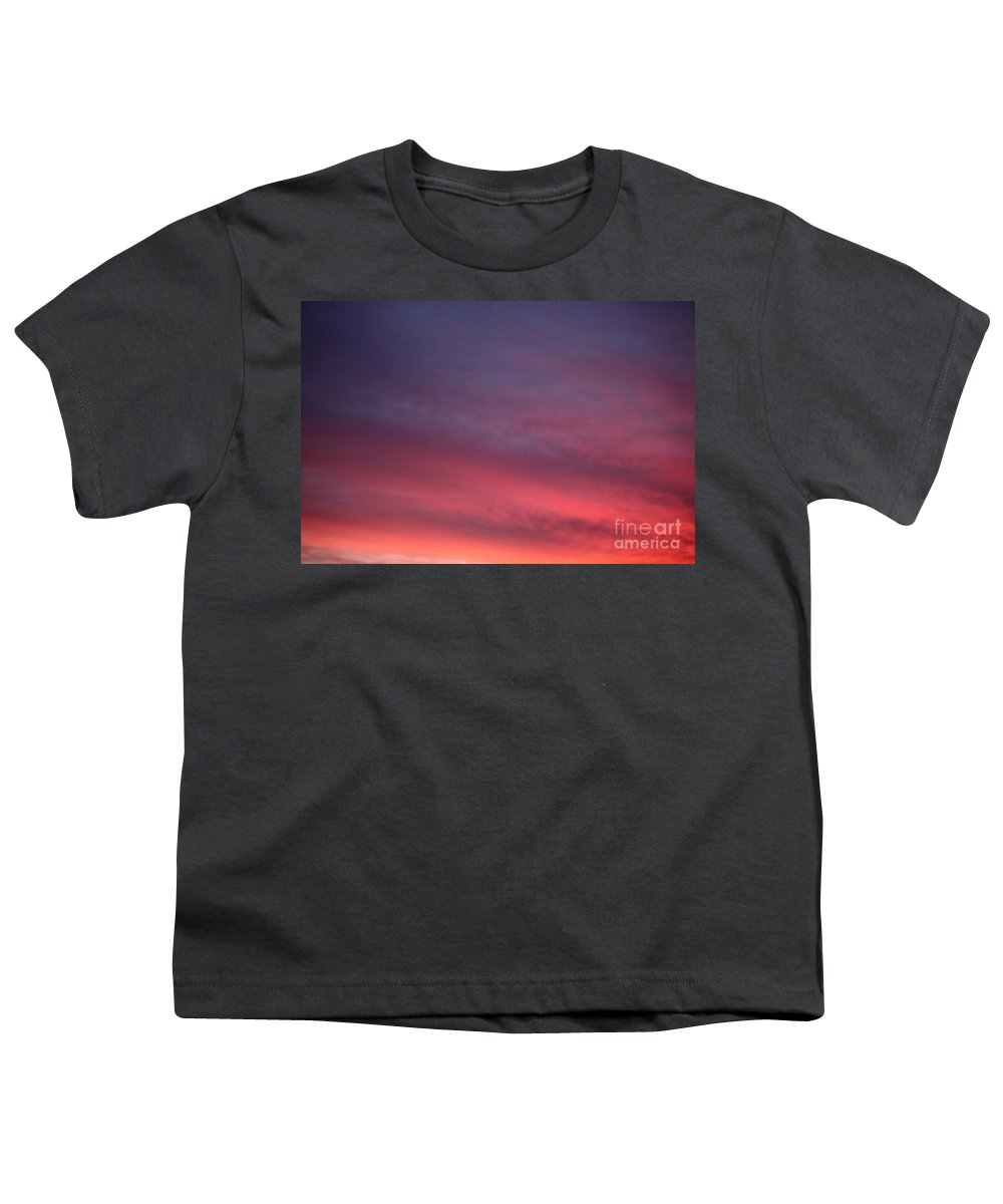 Sunset Youth T-Shirt featuring the photograph Blue And Orange Sunset by Nadine Rippelmeyer