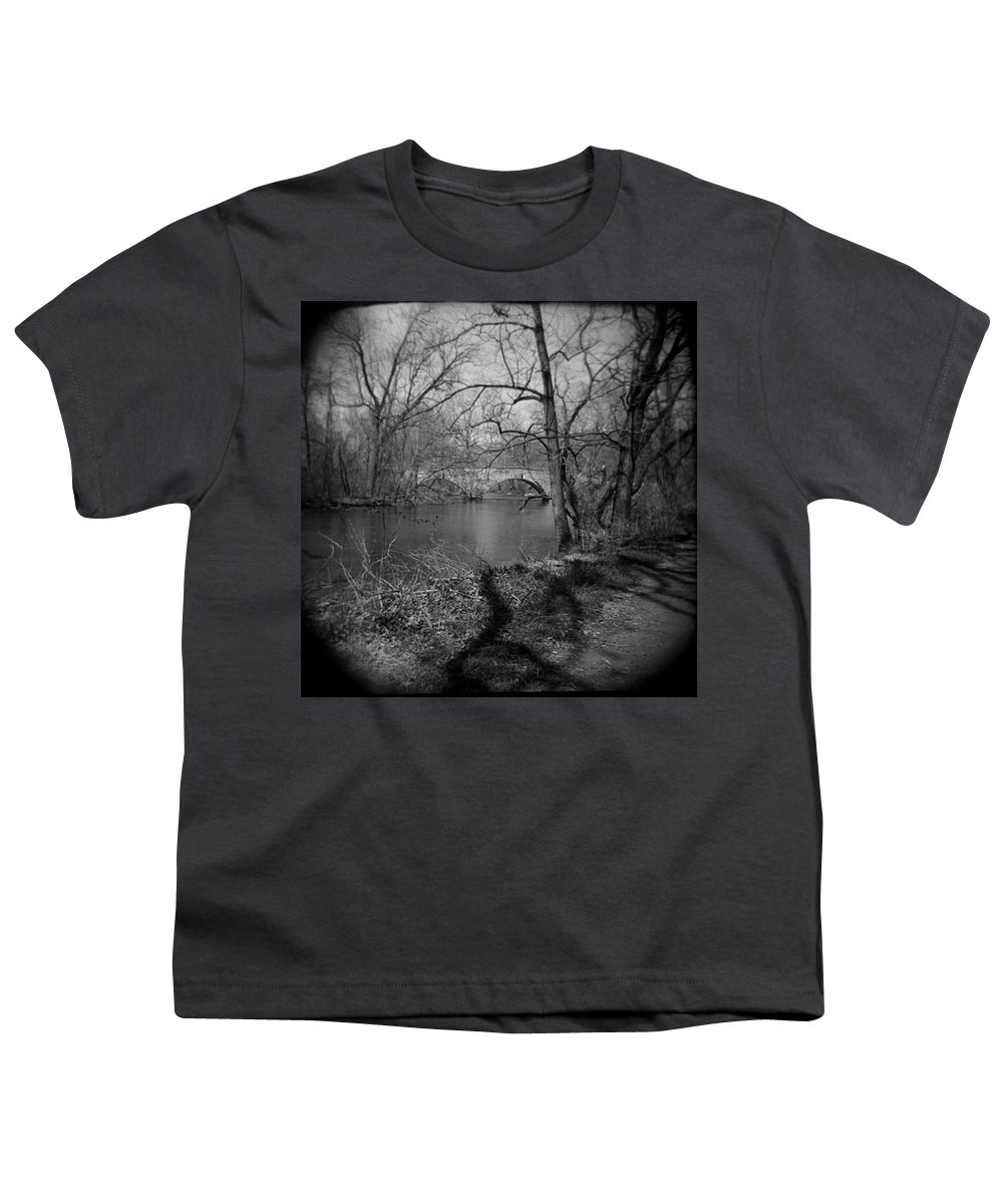 Photograph Youth T-Shirt featuring the photograph Boiling Springs Stone Bridge by Jean Macaluso