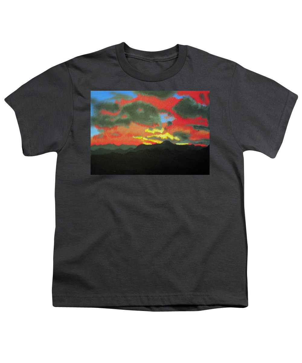 Sunset Youth T-Shirt featuring the painting Buenas Noches by Marco Morales